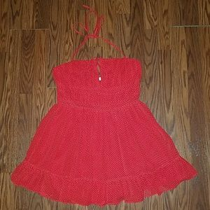 Lovers + Friends Red/White Swing Mini Dress